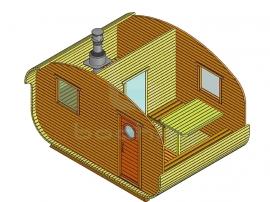 Баня-квадро-овалбочка 4х3